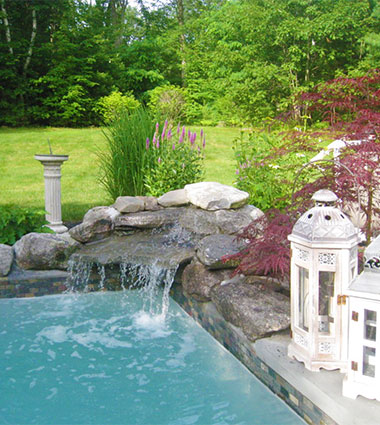 J. Martin Landscaping Pool & Plantings Project